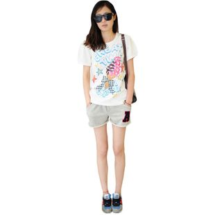 Two Korean loose cotton shorts shorts big yards short home Wei pants shorts female summer thin
