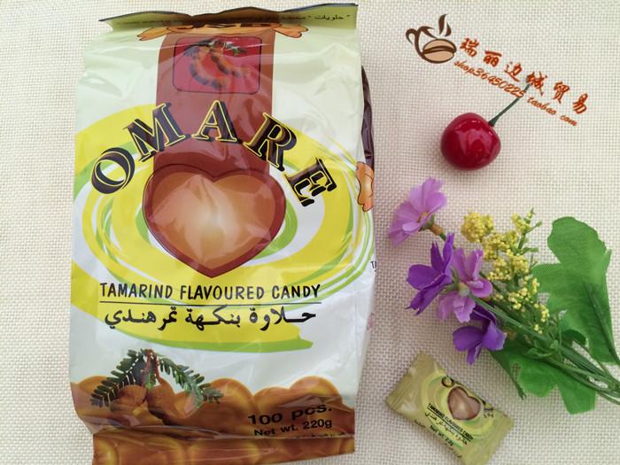 泰国进口零食OMARE 酸角糖 心形糖果酸子糖 罗望子糖喜糖包邮