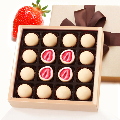 Loncy imported snacks truffle chocolate gift box whole strawberry sandwich white chocolate super delicious