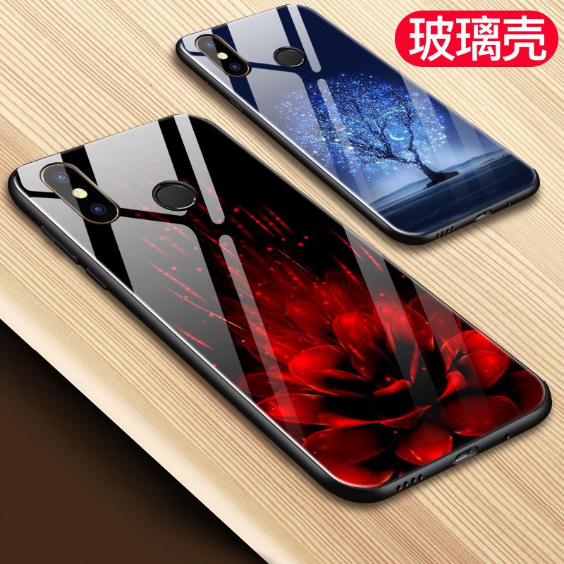 小米mix2s手机壳mlx2s钢化玻璃彩壳m1x2s保护套潮男女个性创意mxi2s包边时尚潮流硬壳