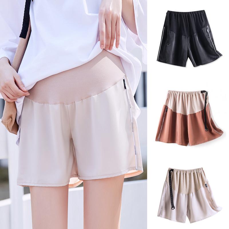 2020春夏新款韩版运动风侧滚边雪纺孕妇短裤孕妇裤安全裤子