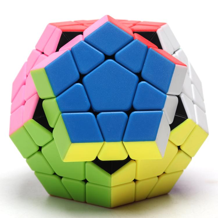 圣手坦克五魔方 十二面体 异形魔方 实色比赛专用顺滑 儿童益智玩(非品牌)