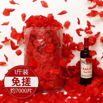 Wedding room decoration non-woven fabric simulation fake rose petals wedding T stage hand-spreading flowers wedding stage proposal layout