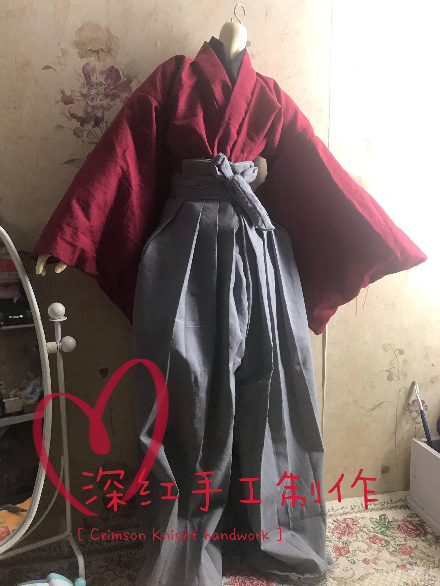 【深红】BJD娃衣 羽织 浴衣 水干多色和服 3分4分叔体定做自制