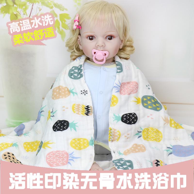 六階の水洗い精梳綿の高密度ガーゼの子供たちは赤ちゃんに毛布をかけられます。タオルは70*140です。