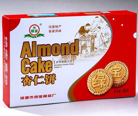 广东河源特产-客家传统工艺 源绿宝杏仁饼 办公室小食品 零食