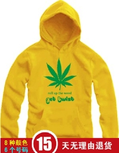 Male and female models lovers students loaded Jamaican reggae cannabina large rock punk clothes hedging hooded sweater