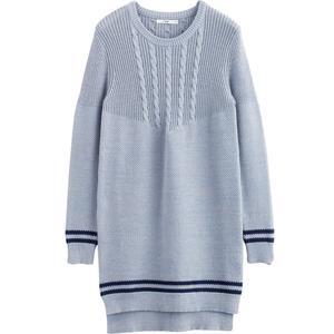 茵曼 女装新款不规则文艺长袖秋季针织连衣裙短裙1864451552