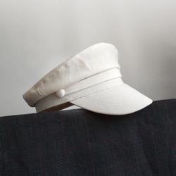 白色海军帽小头女帽休闲八角帽英伦平顶水手帽报童帽春夏网红帽子