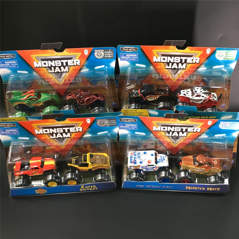MONSTER JAM斯平玛斯特怪兽卡车 疯狂大脚车合金车模型玩具越野车