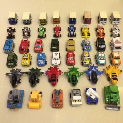 儿童玩具车惯性车工程车回力飞机宝宝迷你小汽车玩具男孩模型套装