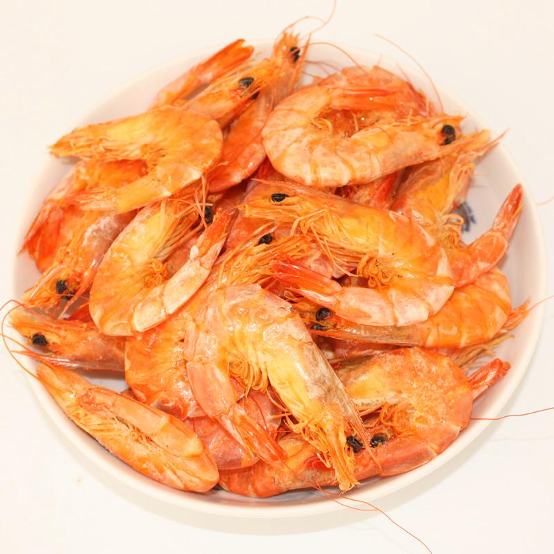 舟山海鲜野生大对虾干即食海鲜干货烤虾干渔家自晒大对虾250G包邮