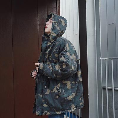 冬季新款迷彩外套男士潮流宽松加厚棉衣808A-Y2098-P145 限价168