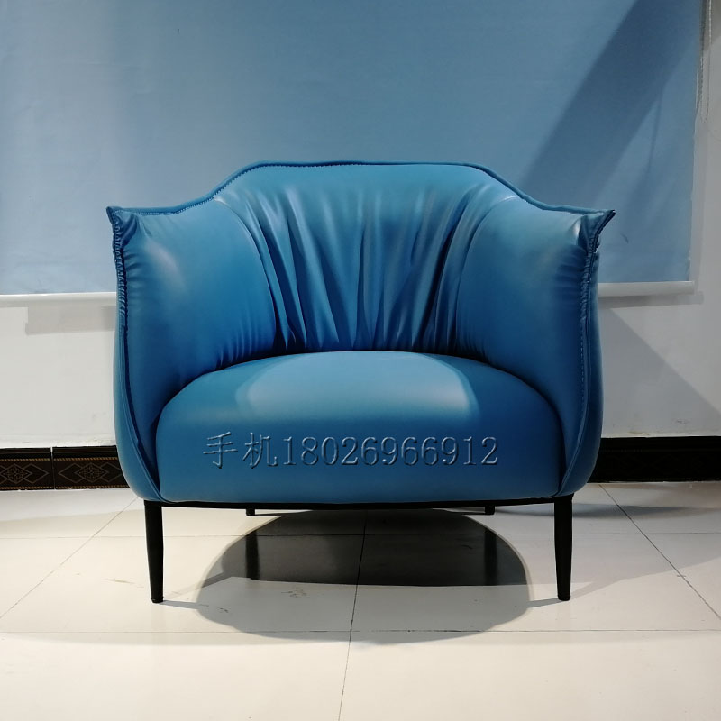 Nordic Italian single sofa Jean Marie Marceau designer customized leather armchair