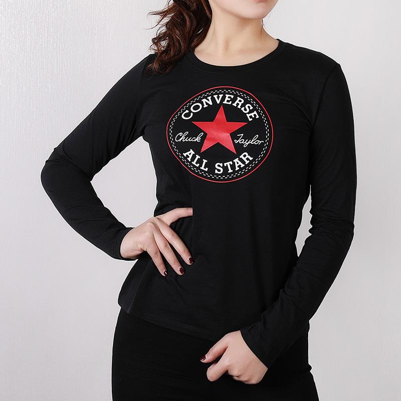匡威运动长袖T恤女装春季运动服卫衣休闲薄款透气上衣10005090-139.00元包邮