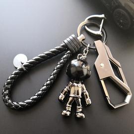 创意个性钥匙链男士酷汽车钥匙扣高档腰挂马蹄扣宇航员潮流小挂件