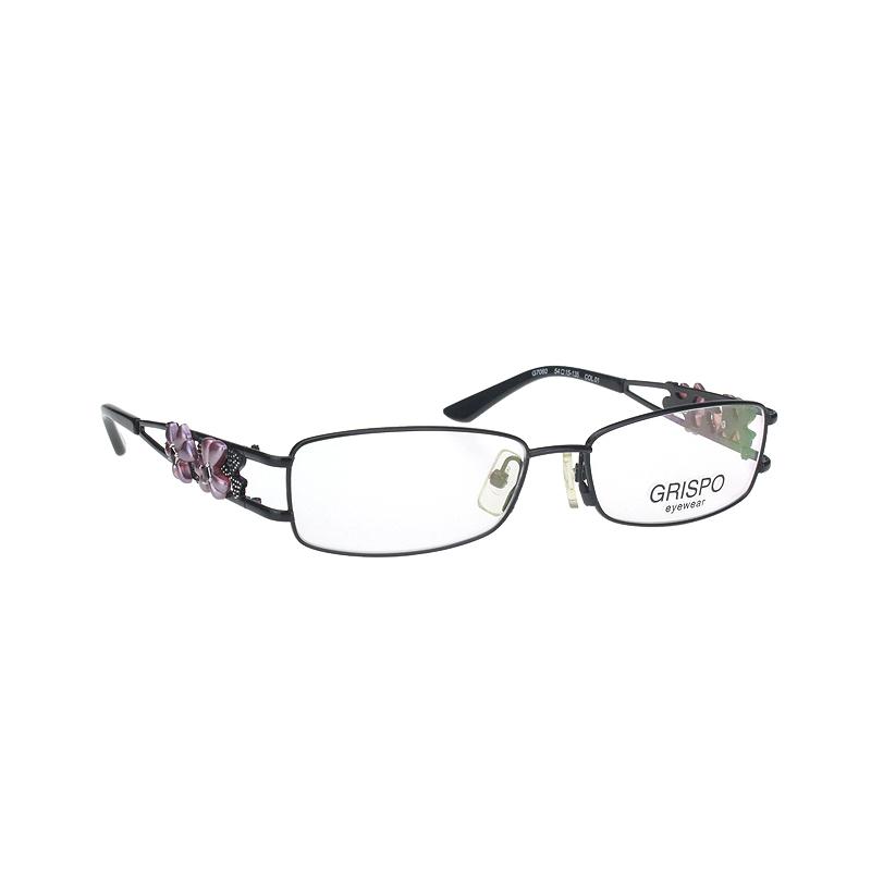 Grispo metal full frame lace decoration glasses frame myopia glasses women fashion decoration 7060