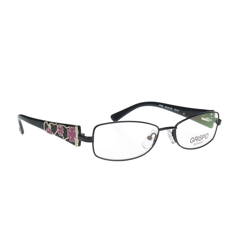 Griseberg womens glasses frame middle-aged and elderly metal full frame leg 7045 plate leg fine traditional classic