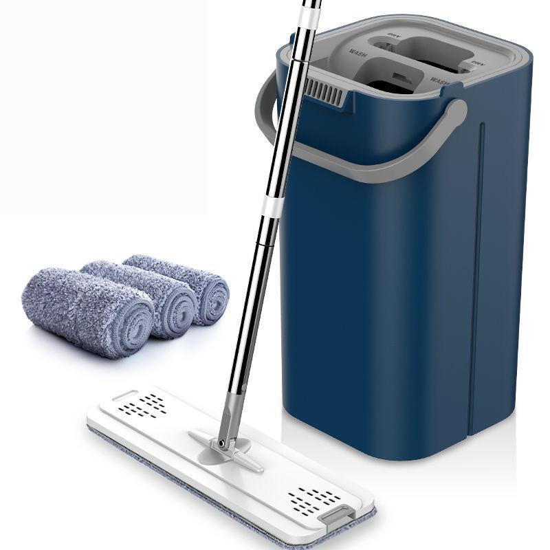 抖音升级加厚款懒人免手洗拖把家用刮刮乐拖把桶拖地神器平板拖