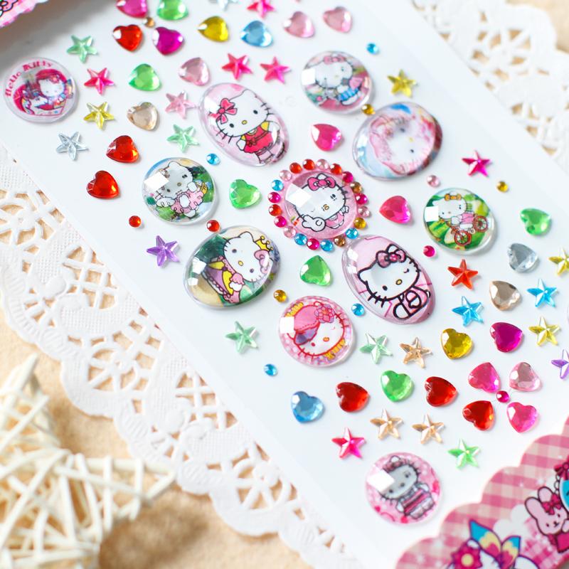 儿童DIY手工钻石贴纸 水钻圆钻方钻 亚克力水晶钻石画 汽车手机贴