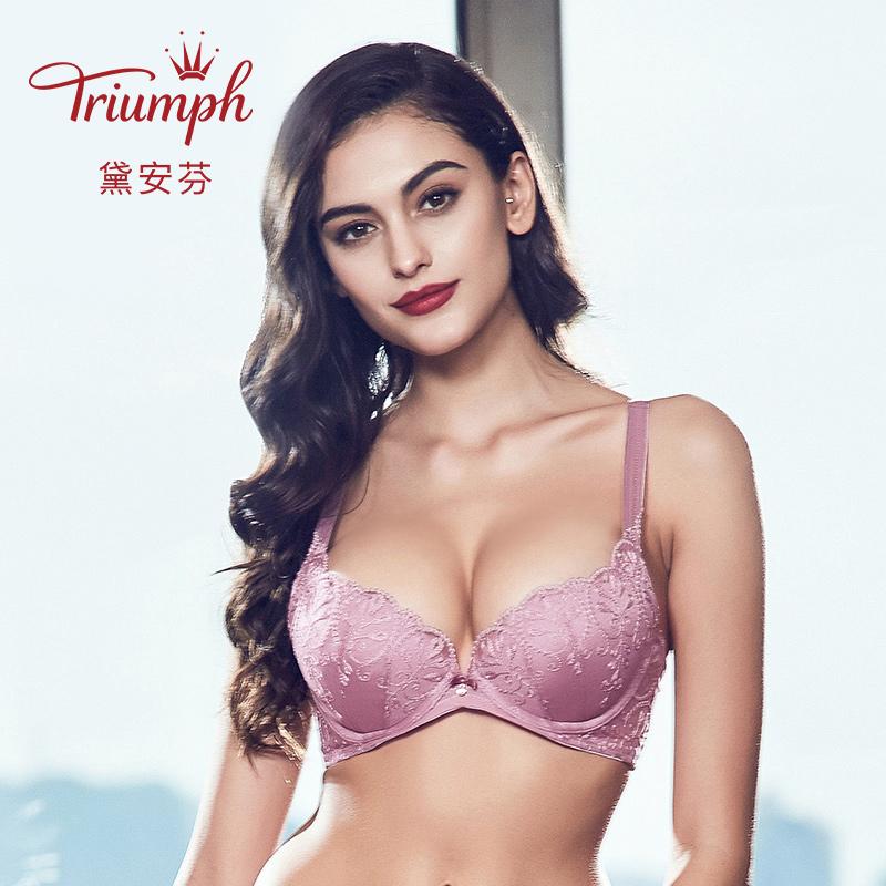 黛安芬专柜正品ESSENCE高端系列蕾丝刺绣性感调整型文胸16-7962