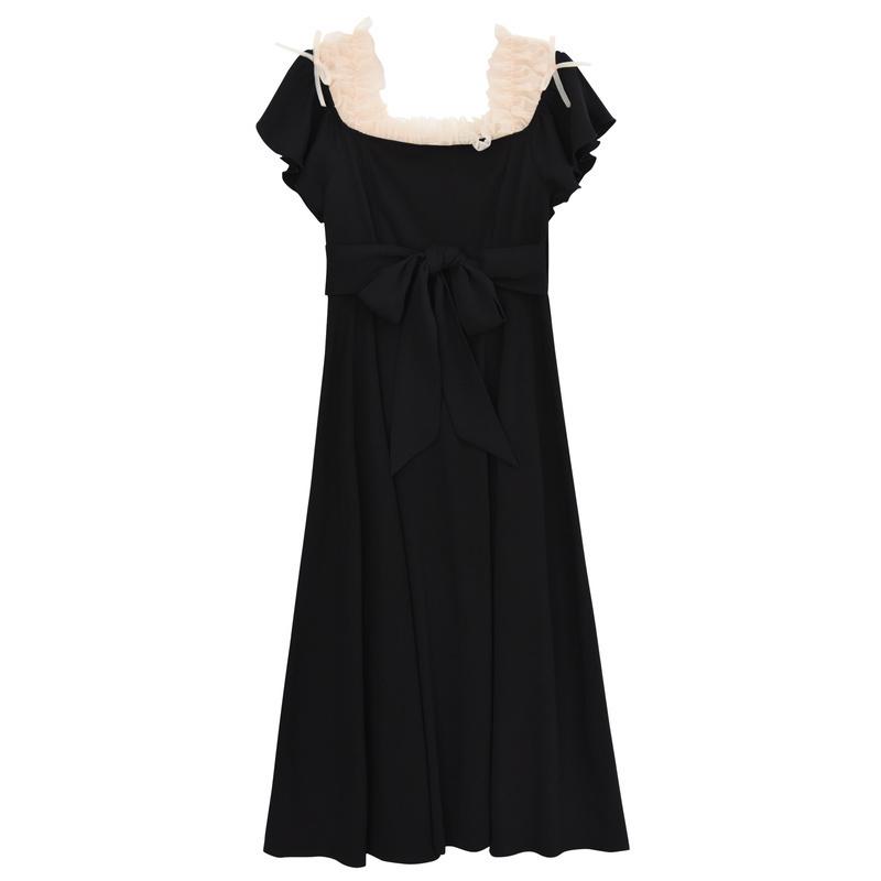 森女部落很仙的法国小众连衣裙夏露肩小香风裙子气质衣服2019新款