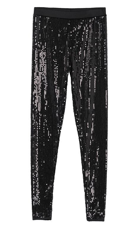 HM ASOS черный полный блесток высокой упругой жесткой брюки ноги брюки леггинсы размер Topshop Motel