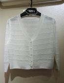 防晒服空调服女士外搭 镂空针织衫 2018新款 外套开衫 上市OL通勤韩版