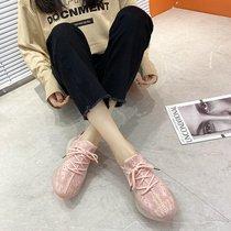 A8404202千百度女鞋春秋商场同款猫跟鞋拼接格纹尖头浅口中跟单鞋