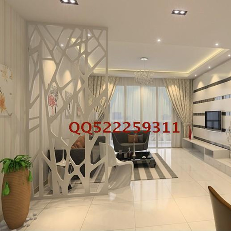 Kitchen Living Room Pass Through See Description: Modern Branches Hollow Carved Panels Off The Entrance Door