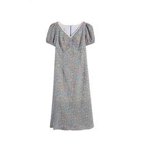 (清仓处理不退换)大码优雅裙子新款法式复古气质碎花连衣裙女