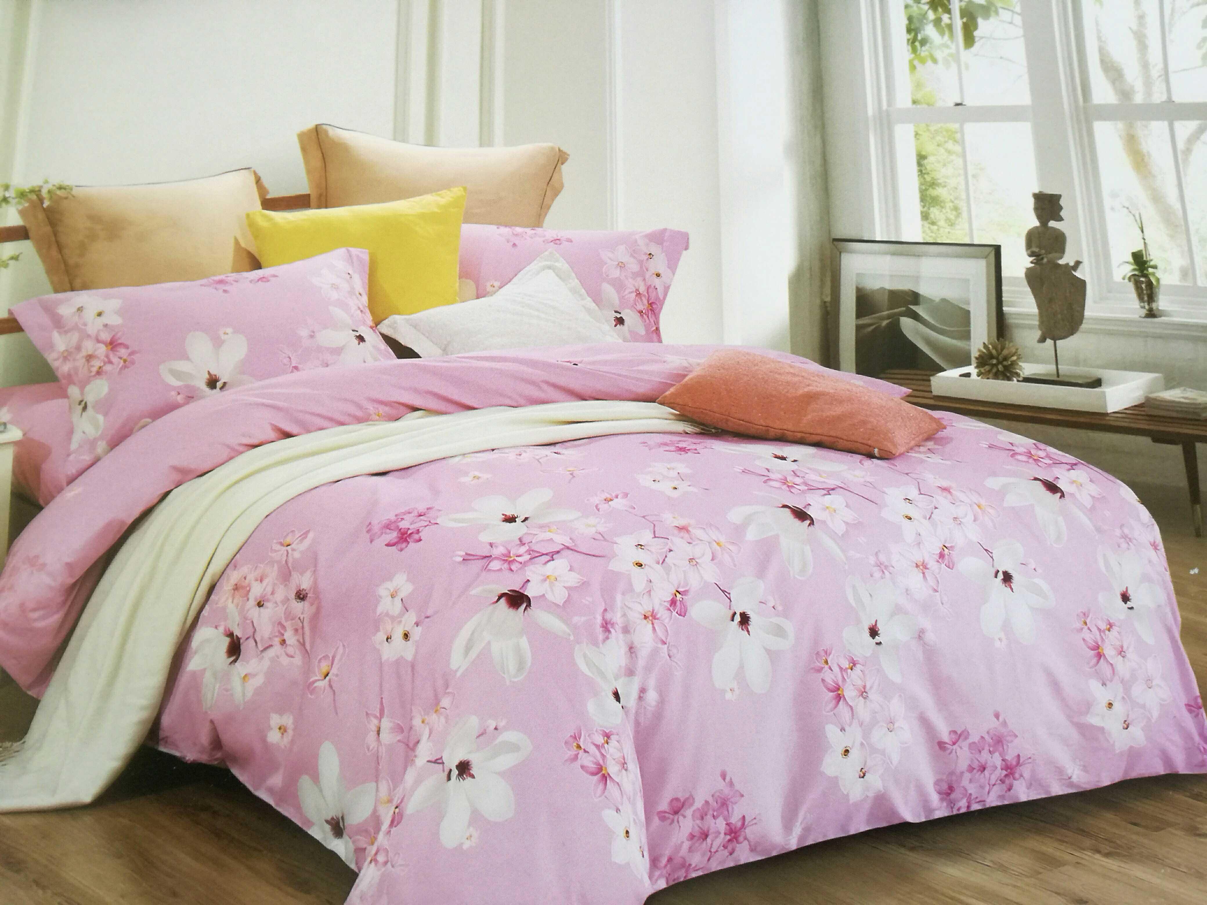 依诗家正品纯棉印花四件套床单四件套1.8米床加大尺寸被罩