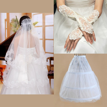 The new 2013 wedding accessories The bride veil wedding veil gloves net three suits combination