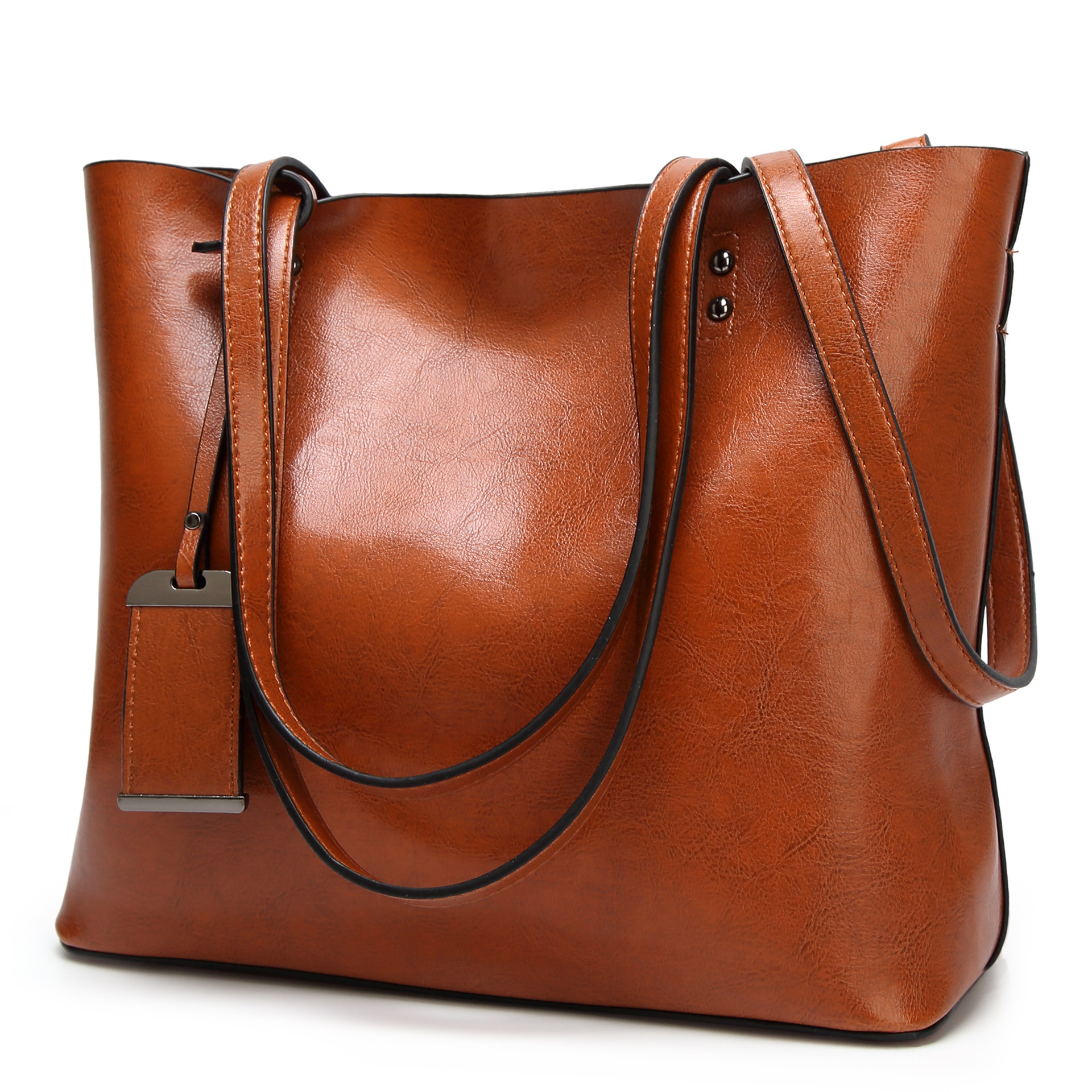 Retro Tote Bag 2020 new womens bag European and American Leather Bag Fashion Handbag Single Shoulder Messenger Bag Handbag