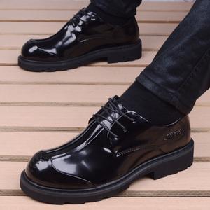 韩版皮鞋男士潮流商务休闲鞋英伦风内增高工装男鞋大头皮鞋男厚底