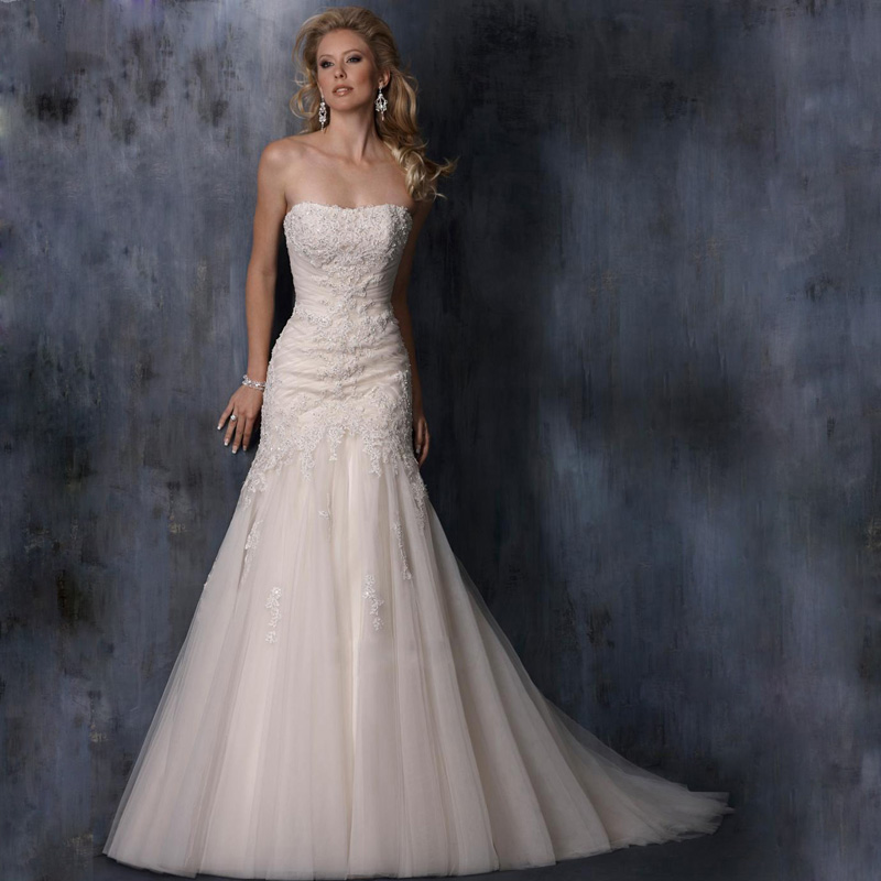 Весна 2014 Новая Европа и грудь Deluxe хвост невесты свадебный тост одежды пользовательских рыбий хвост Свадебное платье