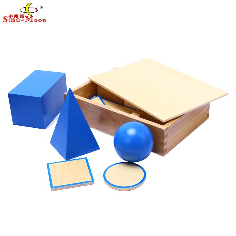 Монтессори математике материалы отлитый Монтессори детский сад детские образовательные игрушки чувственные модели в геометрии твердых учебных пособий