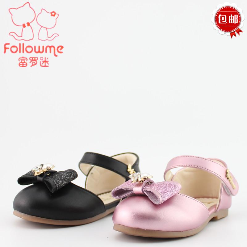2018新款富罗迷女童鞋皮鞋8A6331时尚软底牛皮公主鞋单鞋26-30