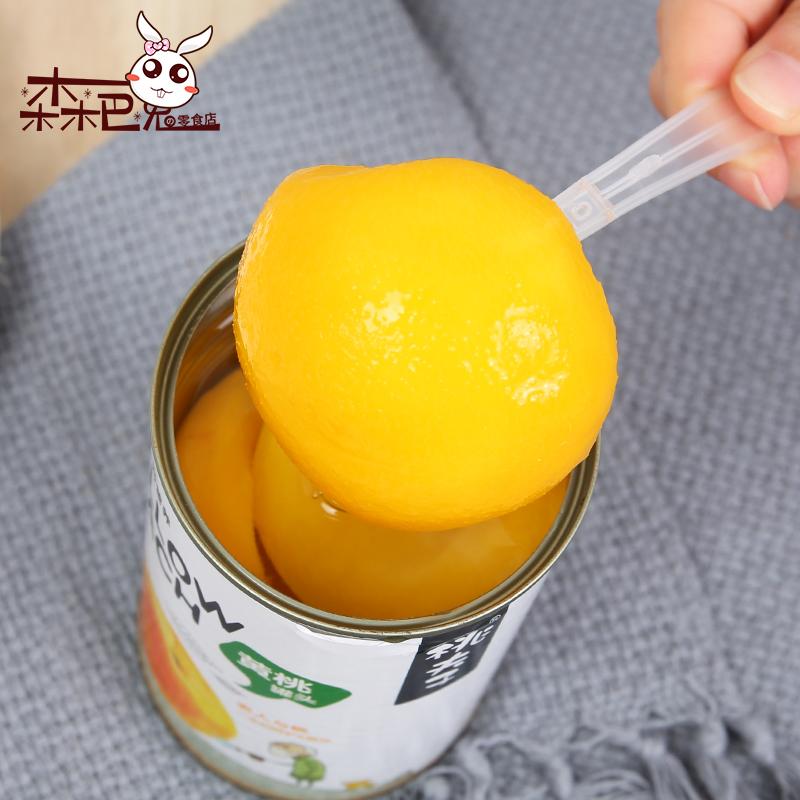 森巴兔零食 桃夫子黄桃罐头新鲜水果罐头罐装糖水即食罐头425g