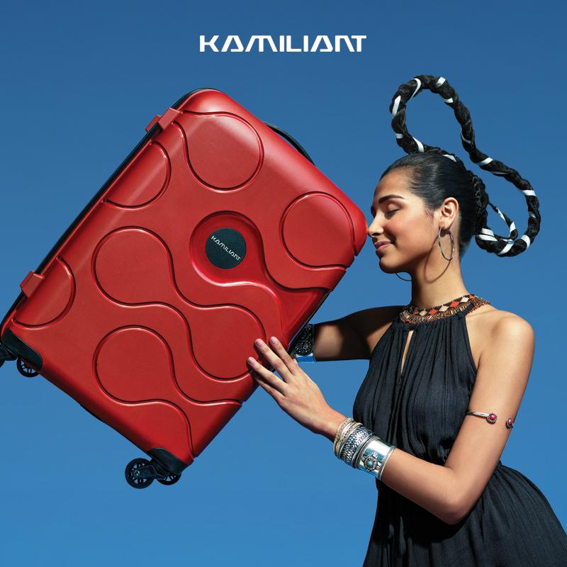 Kamilon counter genuine 20 inch net red suitcase universal wheel female 24 inch suitcase male