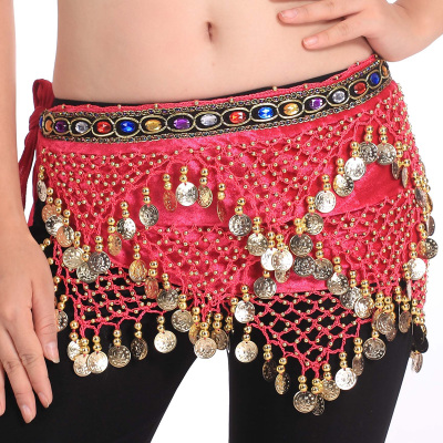 Indian dance performance dress belly dance waist chain new triangle bead gem chain waist chain Y41