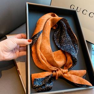 春季韩国小领巾百搭装饰双面发带