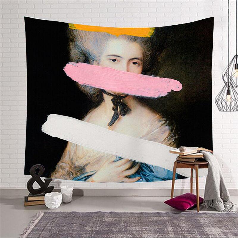 热销6件不包邮欧美文艺人物床头墙壁装饰挂毯挂帘