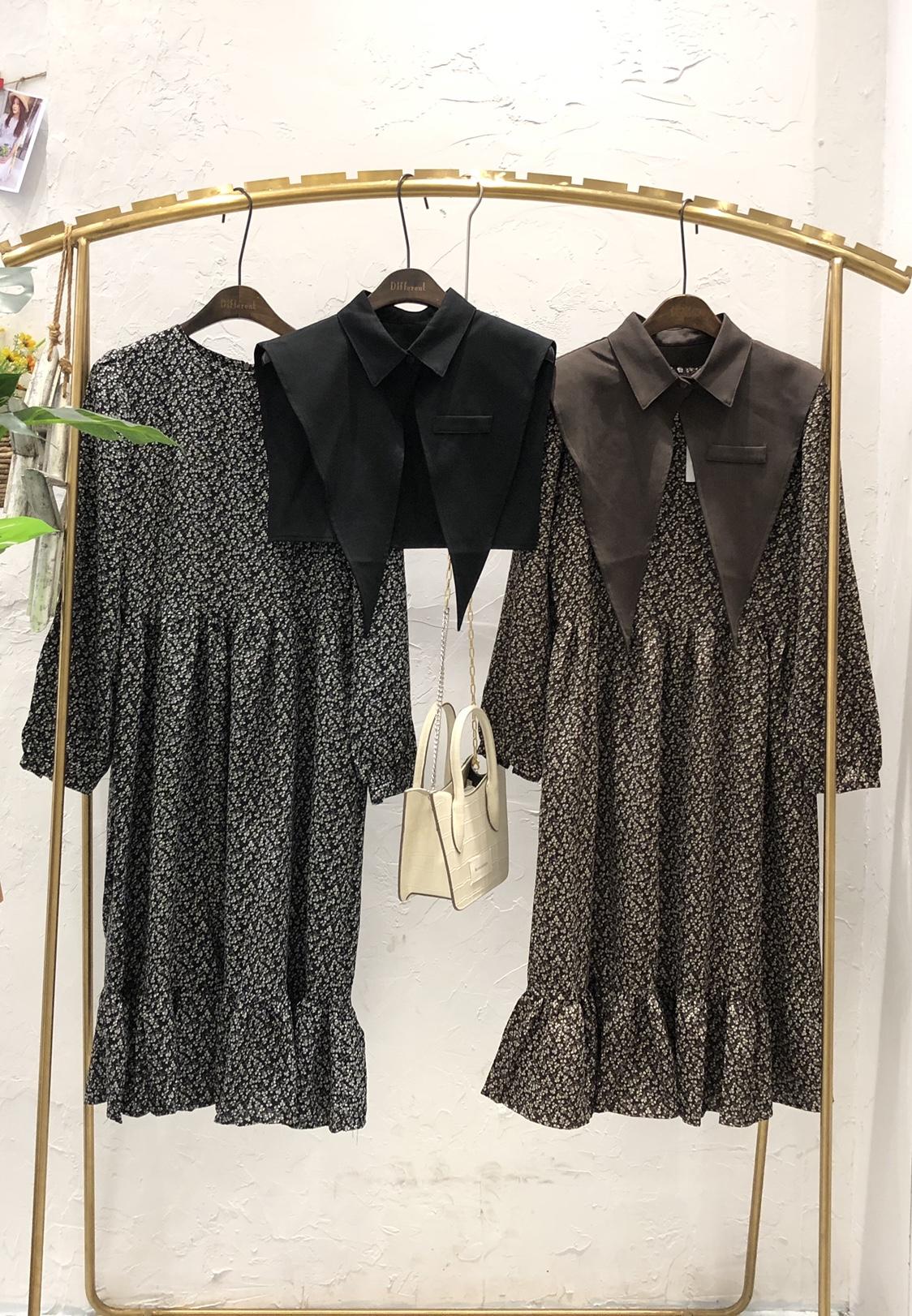 2020年秋季新款韩版时尚宽松轻薄舒适可拆卸连衣裙
