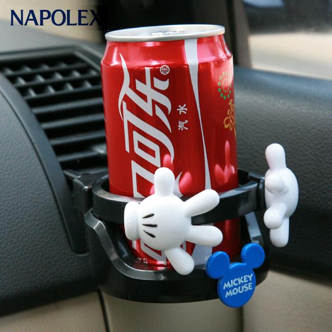 NAPOLEX米奇 汽車空調出風口水杯飲料架 多 車載手機座置物架