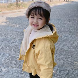 女童秋装棉袄3岁5儿童棉衣小童宝宝外套秋冬加绒加厚新款洋气棉服