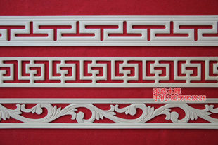 Mouldings Dongyang wood carving back ridge line like the Great Wall of flowers line the wall carved line multi style multi standard