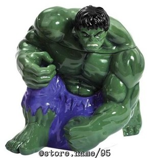 MARVEL THE INCREDIBLE HULK 10 25 quot CERAMIC COOKIE JAR License