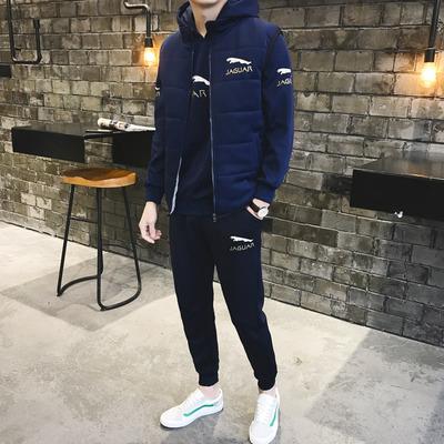 2018运动套装三件套加绒加厚卫衣套装冬季新款休闲套装D322P135