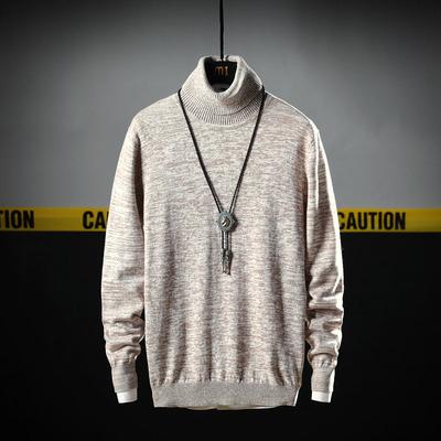 青少年纯棉高领宽松毛衣针织衫男式打底衫休闲时尚外套D538TP45